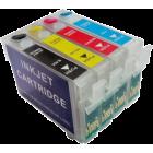 Перезаправляемые картриджи T1281-T1284 для Epson Stylus S22, SX120, SX125, SX130, SX230, SX235W, SX420W, SX425W, SX430W, SX435W, SX440W, SX445W, BX305F, BX305FW (авточипы)