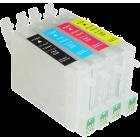 Перезаправляемые картриджи T0441-Т0444 для Epson Stylus C64, C84, C86, CX3600, CX3650, CX4600, CX6400, CX6600 (авточипы)